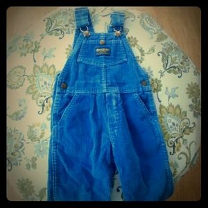 OshKosh B'Gosh 2T Toddler Boys Overalls Corduroy